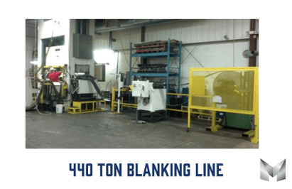 Image of a 440 ton blanking line
